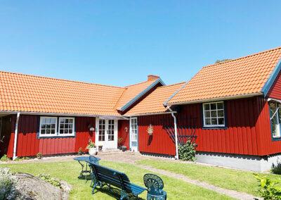 Ljusbrun takmålning i Falkenberg