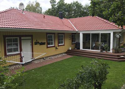Ny målad och behandlat tak