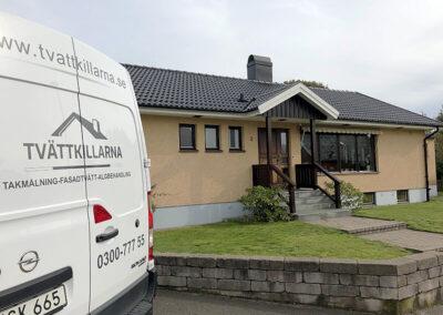 Ny målat tak i varberg